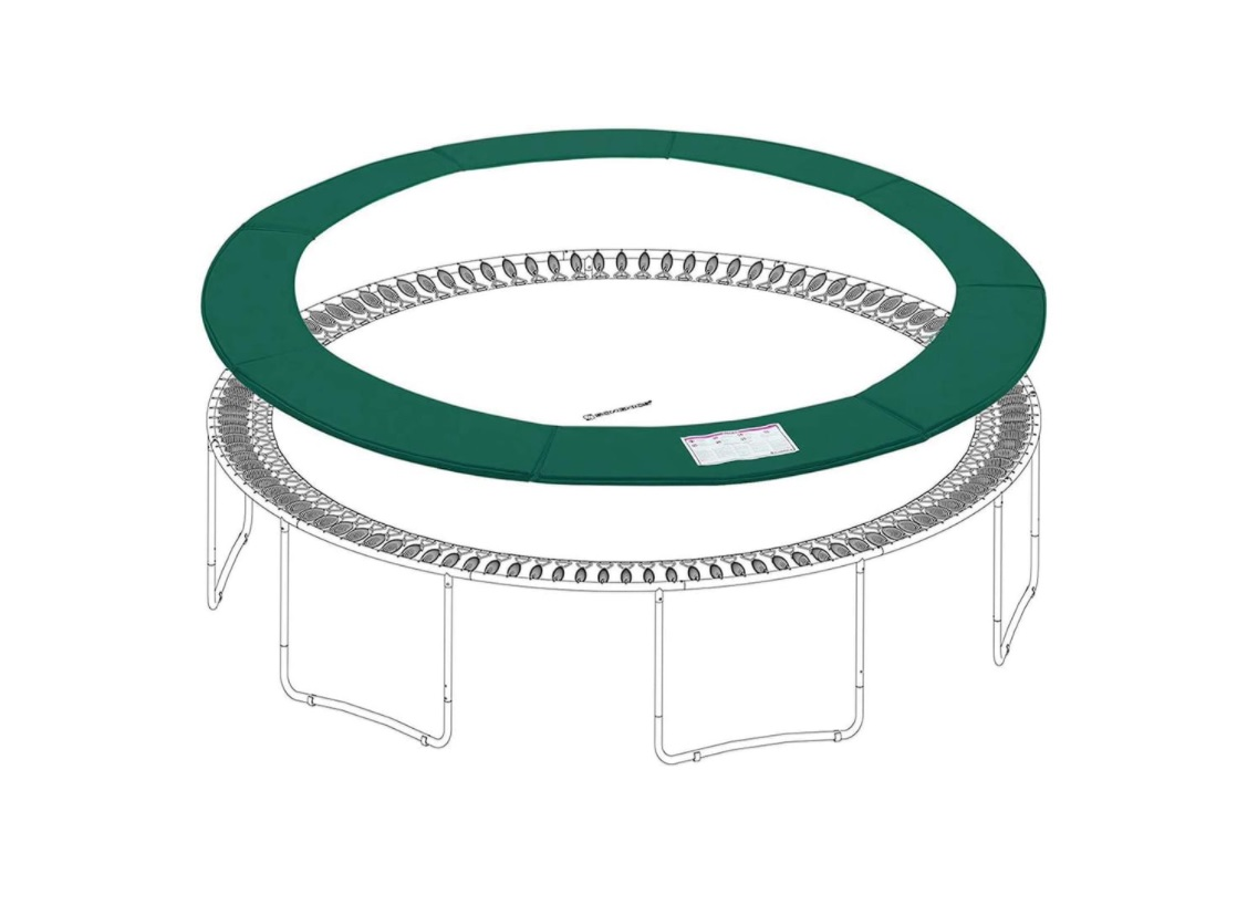 Ronde randafdekking voor trampoline