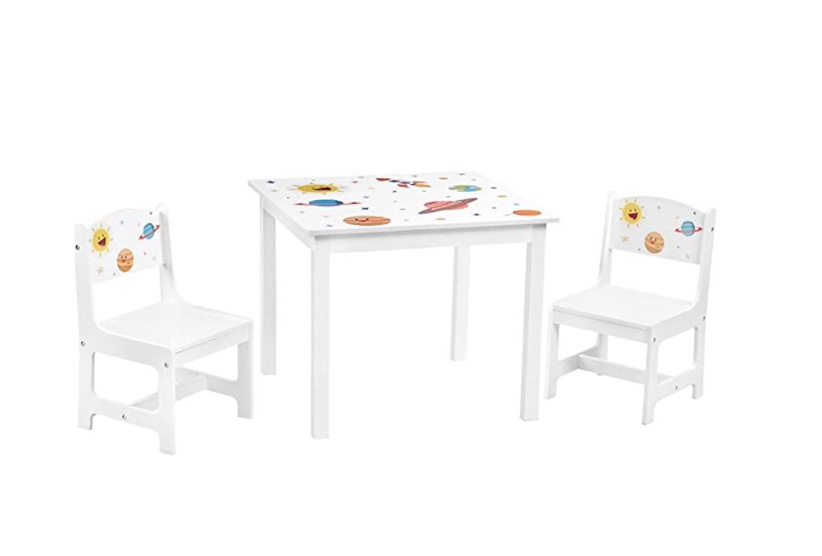 Kindertafelset van massief hout